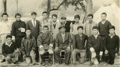 Chain surveyors with Babu Duba Tshering (with hat)